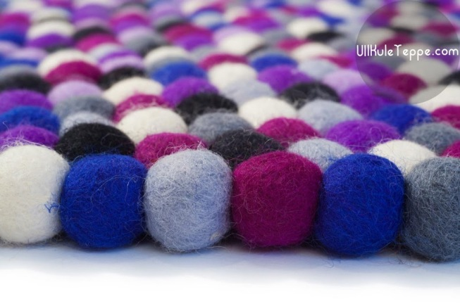 Ull-Kule-Teppe-Rrektangel Royal-Purple